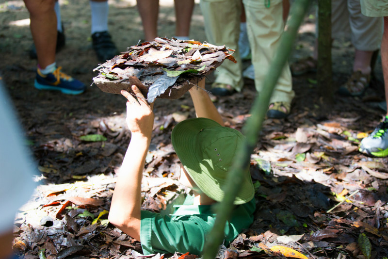 The Cu Chi Tunnels in Ho Chi Minh City Vietnam
