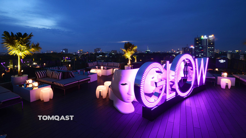 Glow Skybar Saigon -  What's funny? When's Happy Hour?