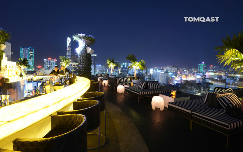 Glow Sky bar Saigon view