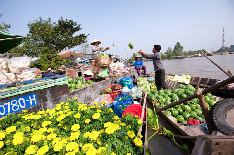 Top 5 Floating Markets in Mekong Delta
