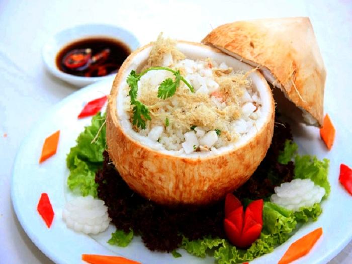Coconut rice ben tre
