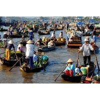 VF63 - Bassac Cruise - Mekong Delta Tour 2 Days 1 Night  Depart From Caibe
