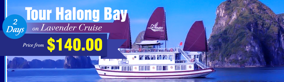 Tour Halong Bay on Lavender Cruise 2 Days 1 Nights