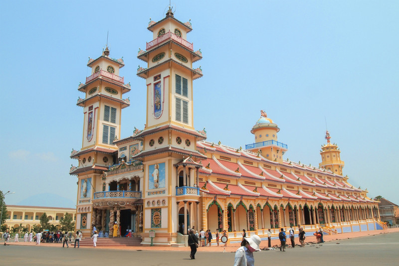 Cao Dai Temple in Tay Ninh Province