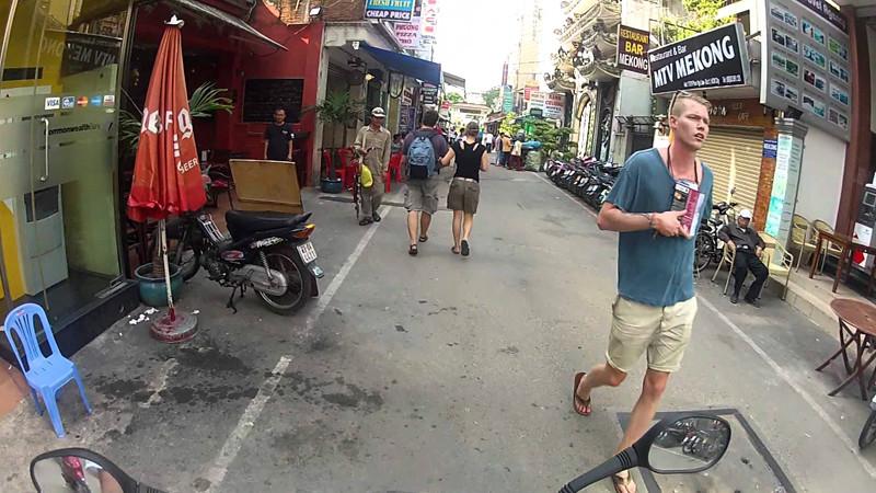 Pham Ngu Lao neighborhood - Backpacker area in Saigon