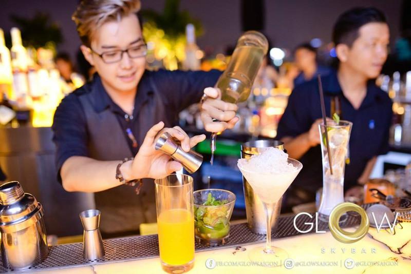fruit in Glow Sky bar Saigon