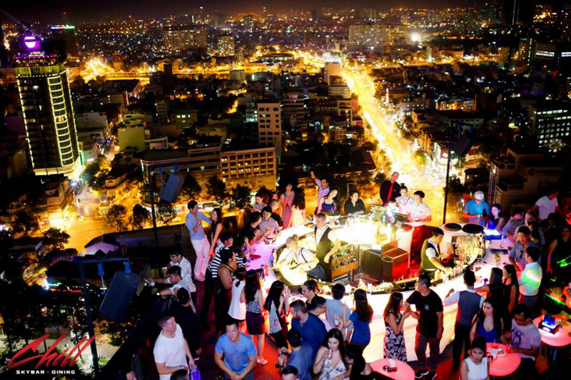Image result for Night life in the city ไซ่งอน