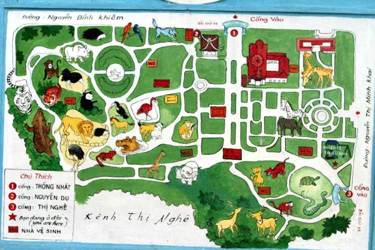 zoo saigon map