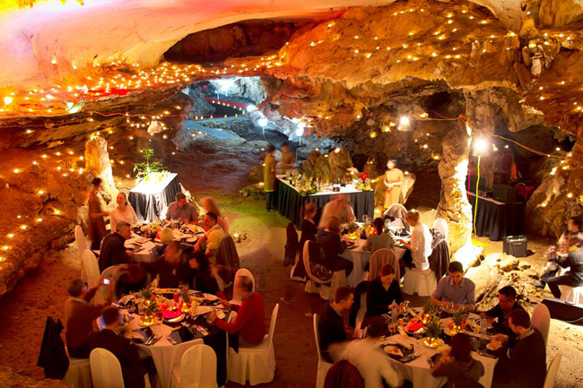 Have a dinner in a cave