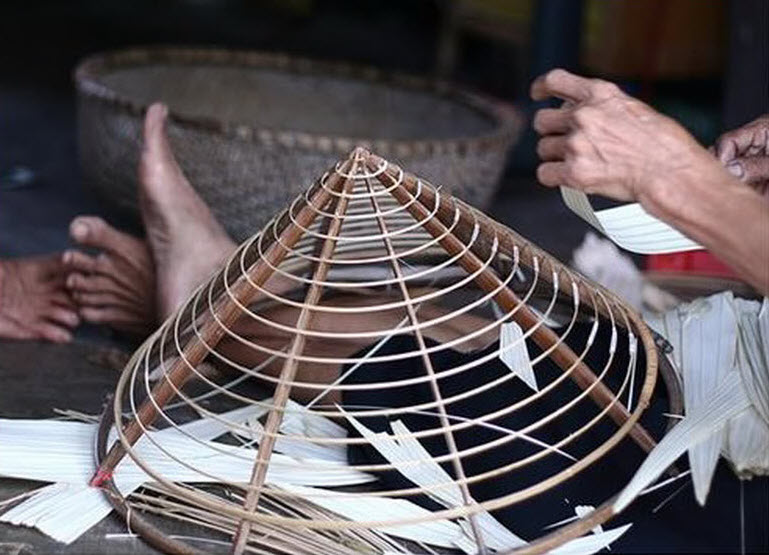 Conical hat making village Cantho