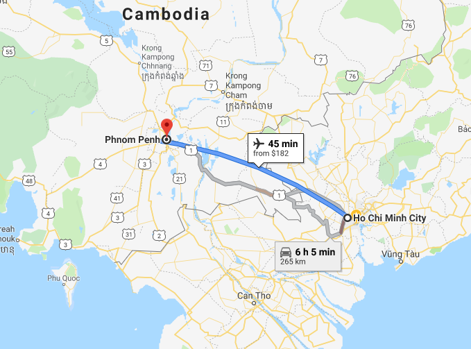 How to get from Mekong Delta to Phnom Penh?