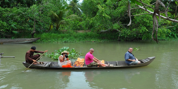 rowing trip on the Cai Coi mekong delta