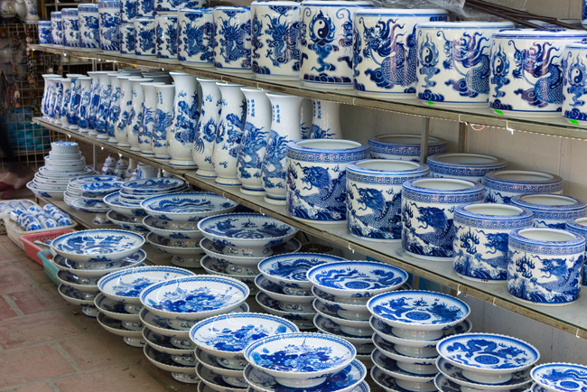 Bat Trang Porcelain village