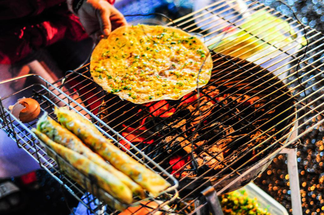 Grilled Rice Cake in Dalat