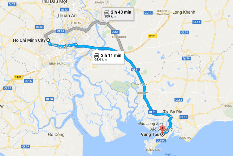 How to travel from Ho Chi Minh City to Vung Tau